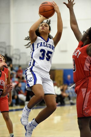 Raven Morgan popped in 20 points to lift the Cedar Crest girls basketball team to a 41-22 win at Elizabethtown on Friday night.