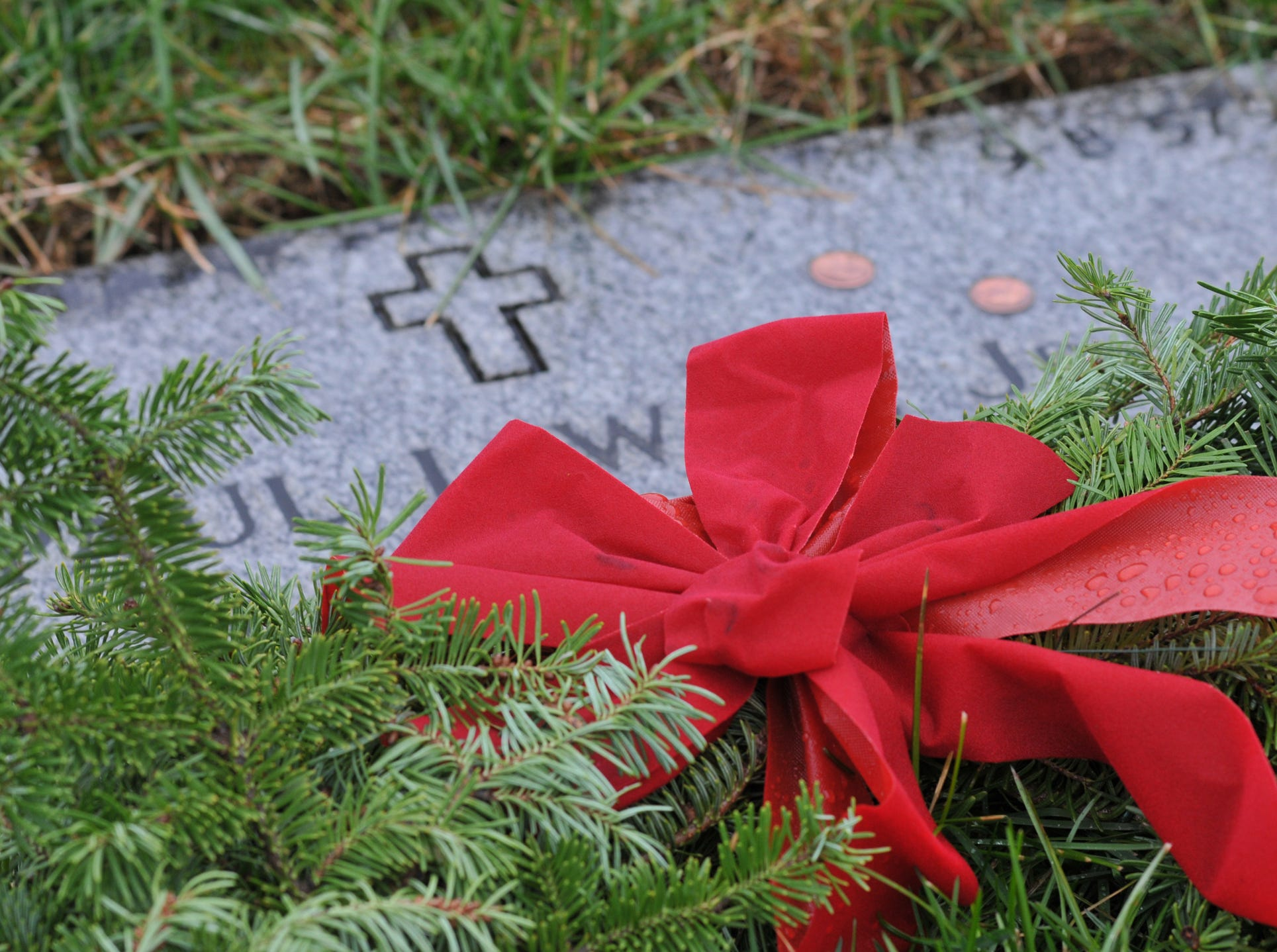 The Wreaths Across America ceremony held at Indiantown Gap National Cemetery on December 15, 2018. Indiantown Gap National Cemetery supporters met their goal this year sponsoring more than 40,000 wreaths, enough to place one on every veteran's grave.