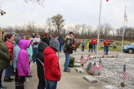 Ottawa County celebrated Wreaths Across America Day on Saturday with ceremonies like this one at Riverview Cemetery in Port Clinton, as well as Catawba Cemetery at Catawba Island, Sackett Cemetery in Danbury Township and Union Cemetery in Oak Harbor.