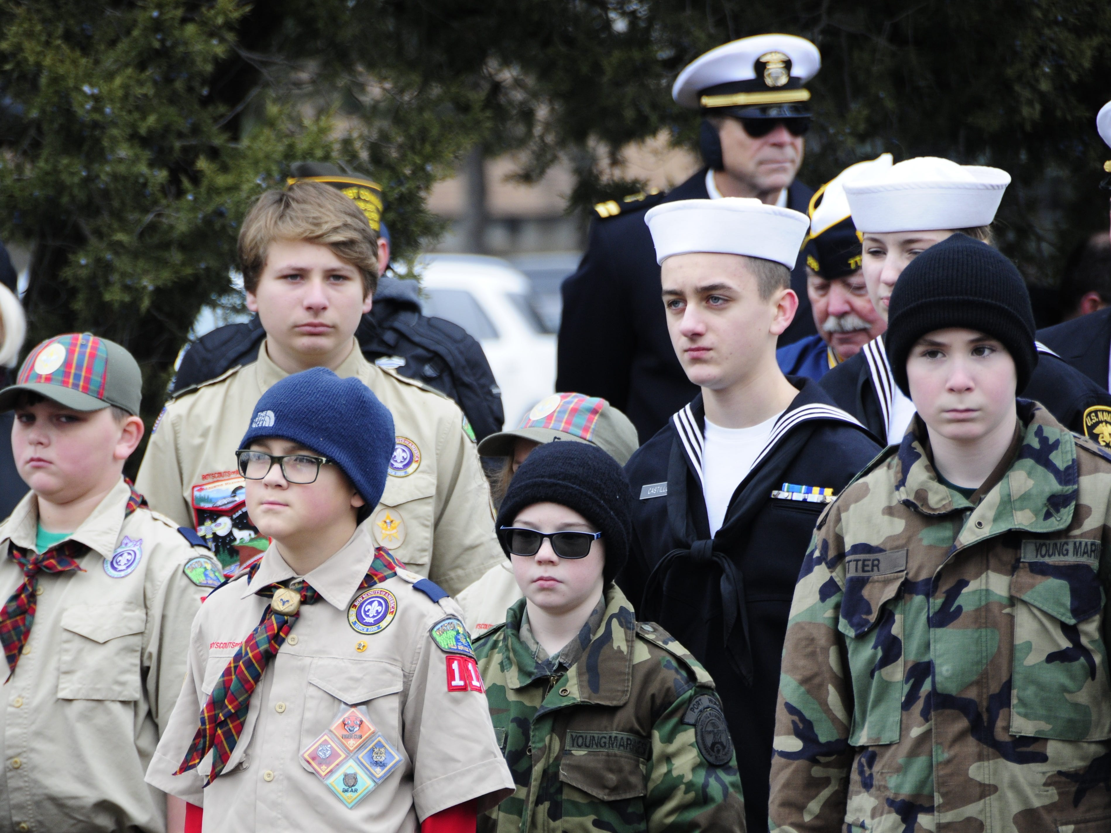 Scouts, Naval Sea Cadets and Young Marines participate in Wreaths Across America on Saturday, Dec. 15, 2018 at St. Clair County Allied Veterans Cemetery in Port Huron.