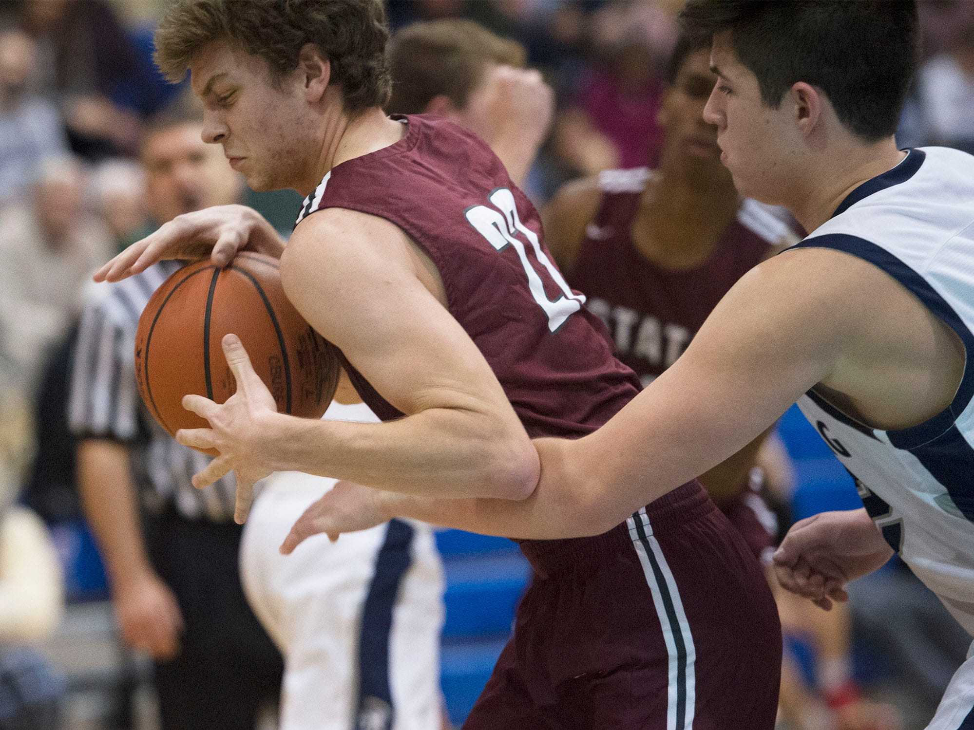 Chambersburg dropped a buzzer beater 42-40 to State College during District 3 basketball, Friday, Dec. 14, 2018.