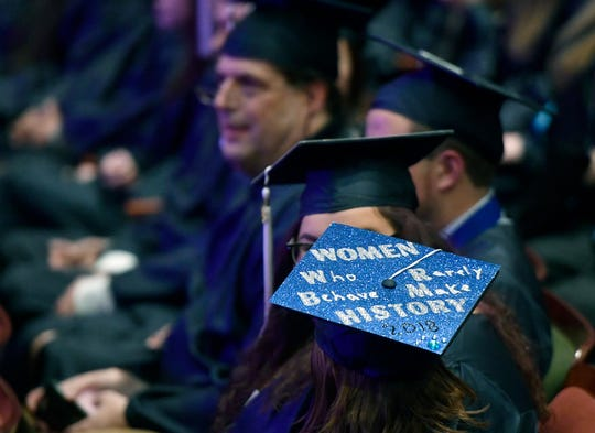 About fifty students graduate during the Penn State York annual fall semester commencement, Friday, December 14, 2018.John A. Pavoncello photo