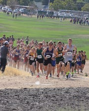 A boys high school cross country race earlier this season.