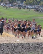 A boys high school cross country race earlier this season.