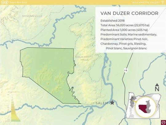 Van Duzer Corridor Map