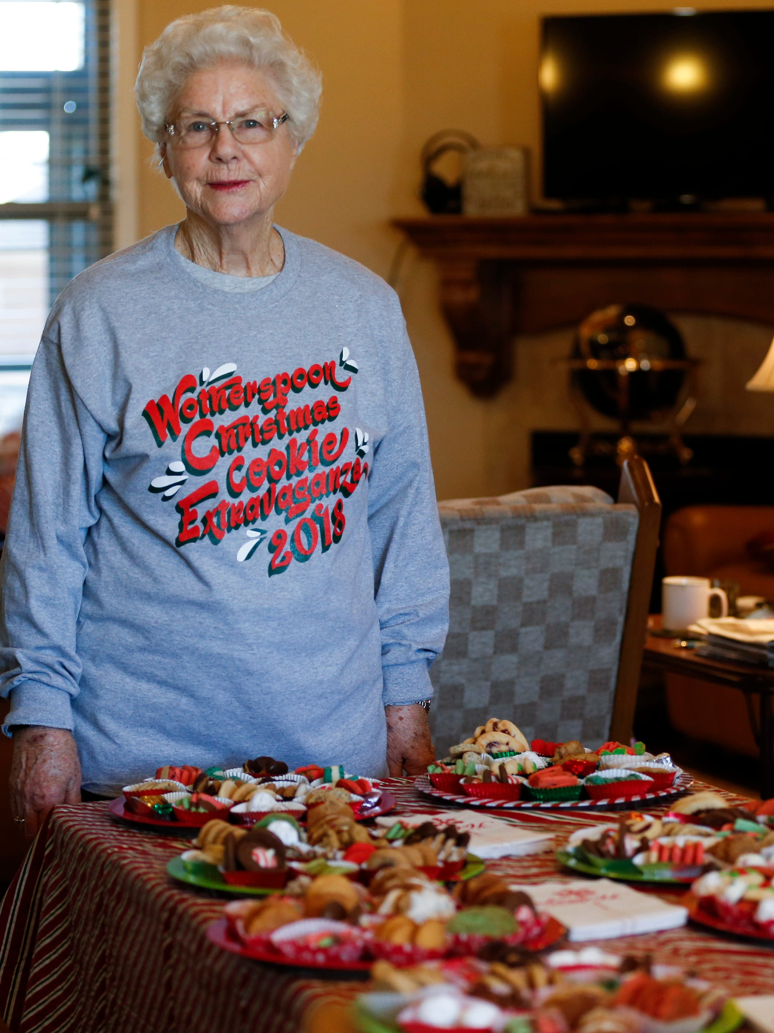 Jeanette Wotherspoon, 84, bakes thousands of Christmas cookies every year for the annual Wotherspoon Christmas cookie extravaganza.