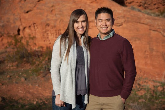 Matthew Mizukawa and his wife, Julie Mizukawa, plan Get Outside, a program designed to help youth stay healthy through outdoor recreation Friday, Dec. 14, 2018.