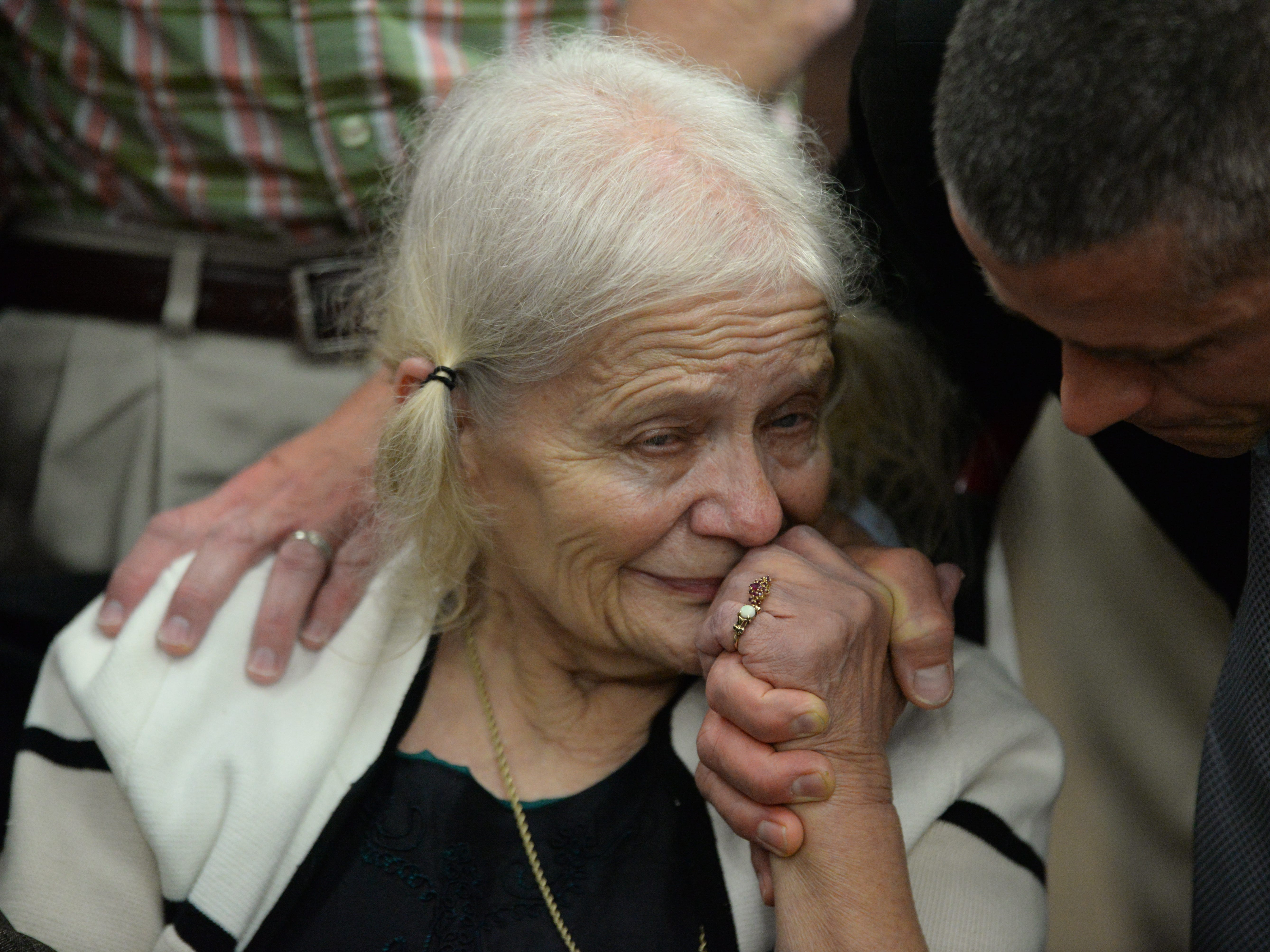 Cheryl Williams, mother of Mike Williams, is consoled as the verdict is read in the trial of Denise Williams for the murder of her husband Mike Williams at the Leon County Courthouse Friday, Dec. 14, 2018.