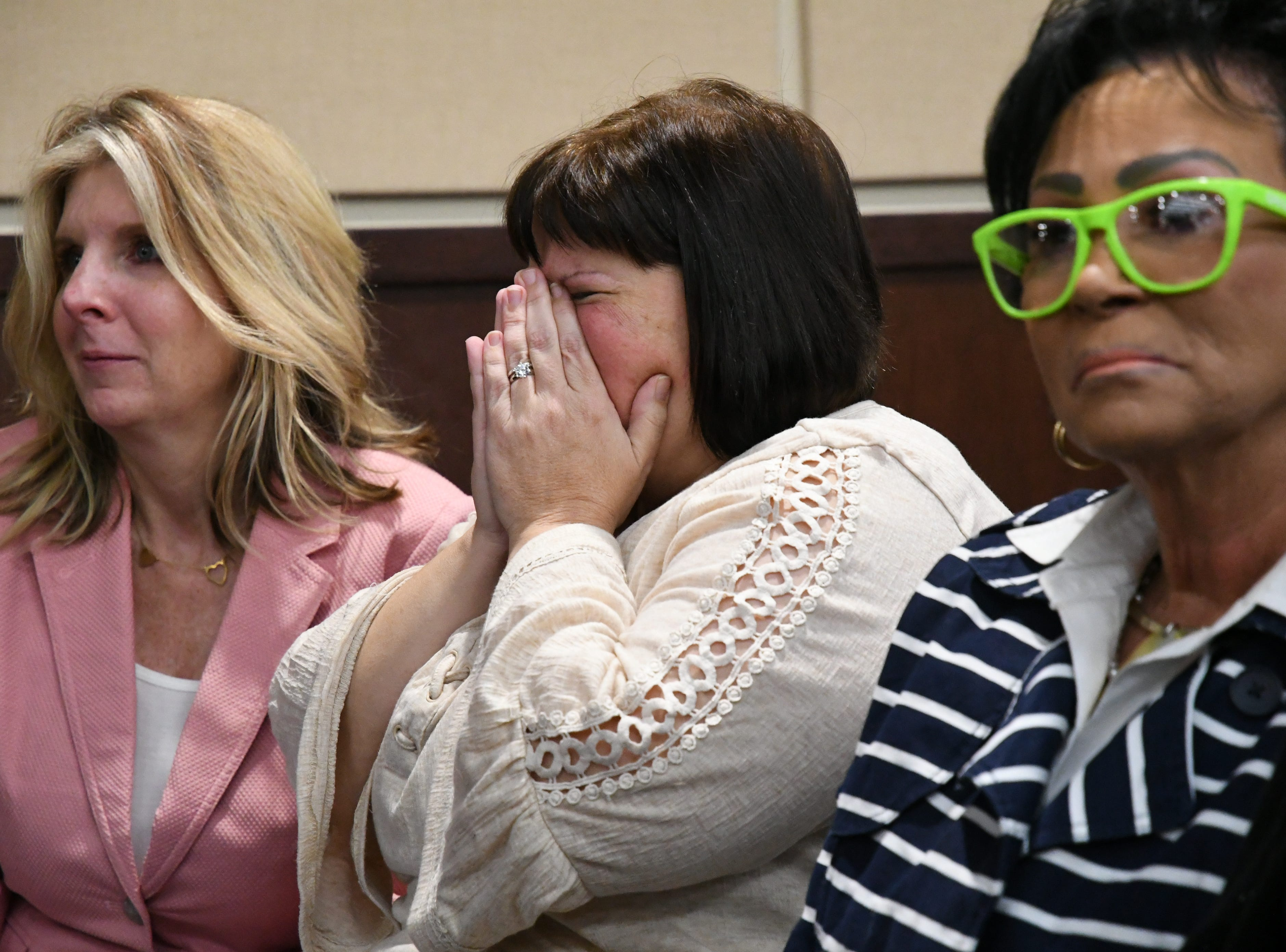 A flood of emotions pours out into the courtroom as the verdicts are read in the trial against Denise Williams for the murder of her husband Mike Williams, the man who was shot and killed by his high school best friend, Friday, Dec; 14, 2018.
