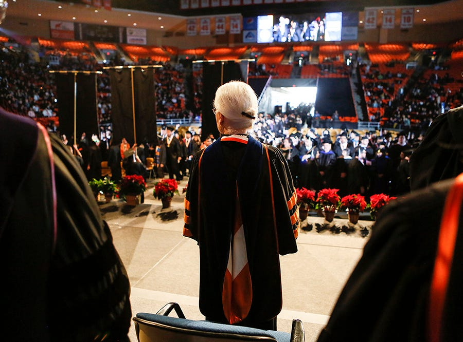 UTEP President Diana Natalicio presides Saturday over what likely will be her last UTEP commencement before retirement.