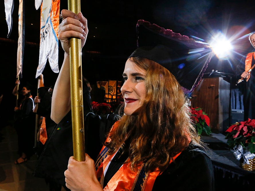 More than 2,500 students received their degrees from the University of Texas at El Paso at Saturday's winter commencement ceremonies.