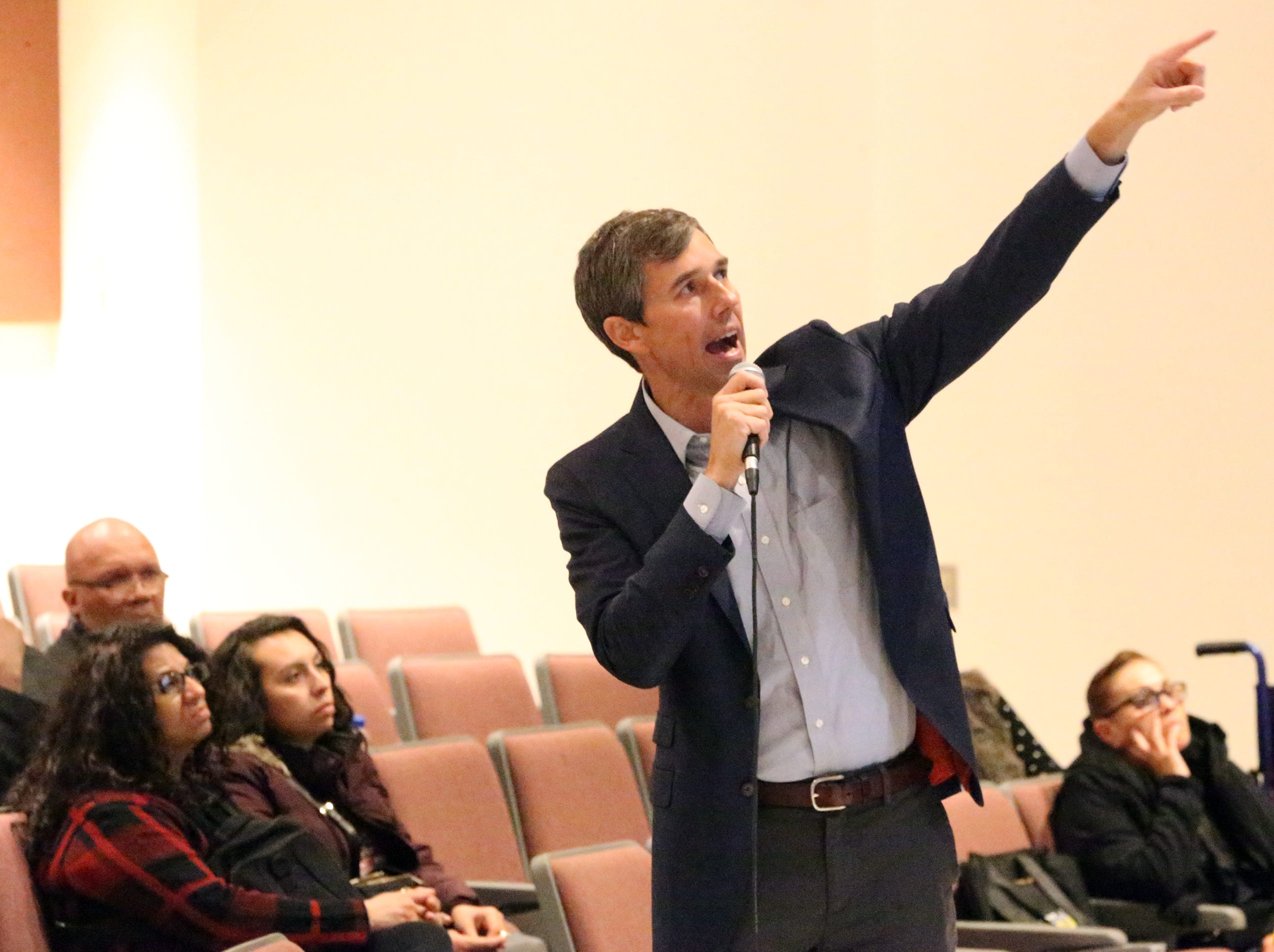 Congressman Beto O'Rourke held his final town hall on veterans issues Friday at Chapin High School.