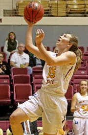 Midwestern State'Haevyn Risley puts in a layup against St. Mary's Saturday, Dec. 15, 2018, in D.L. Ligon Coliseum at MSU. The Mustangs defeated the Rattlers 51-35 bringing their record to 2-5.