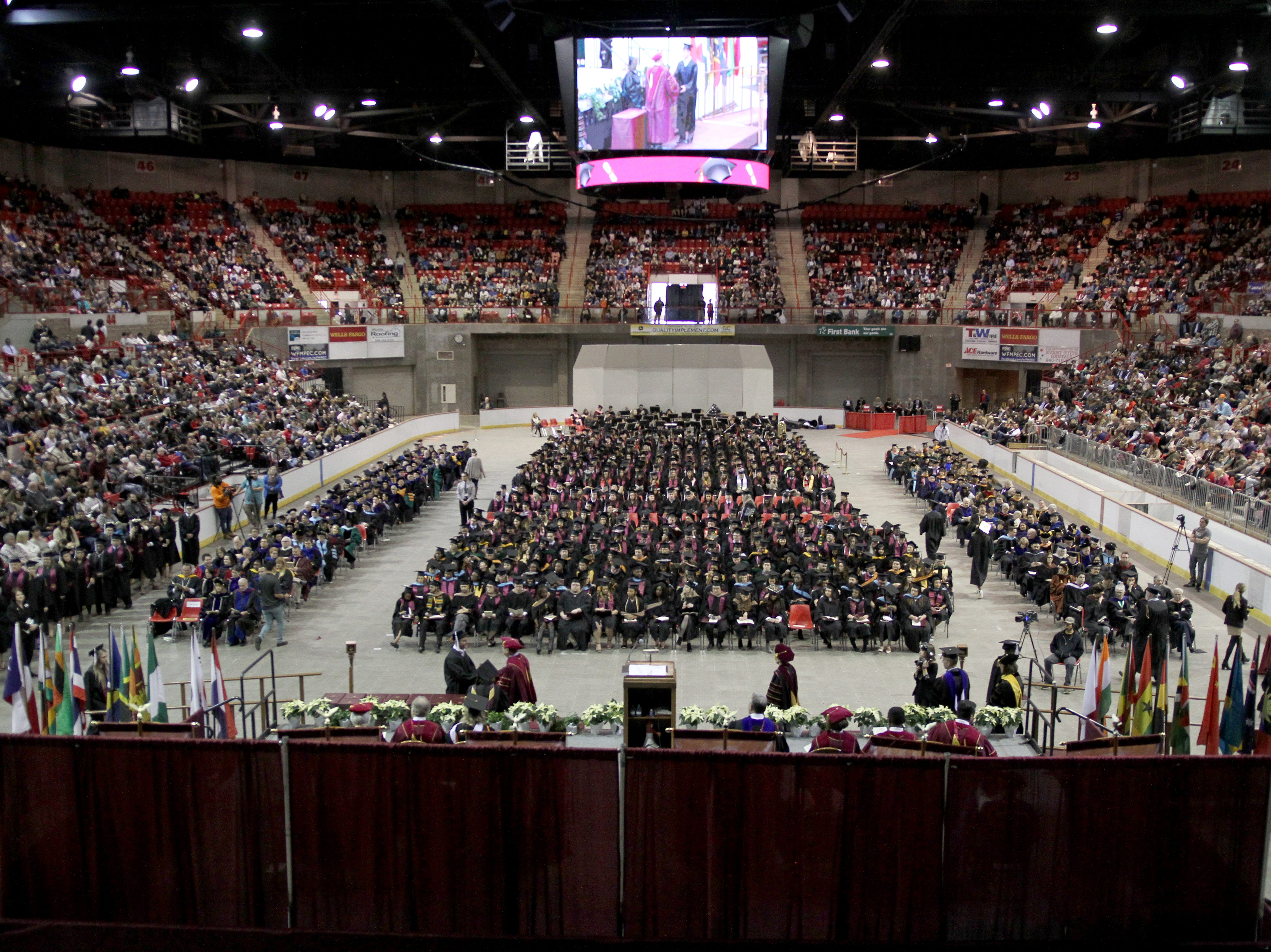Midwestern State University held it's fall commencement ceremony Saturday, Dec. 15, 2018, in Kay Yeager Coliseum at the MPEC.