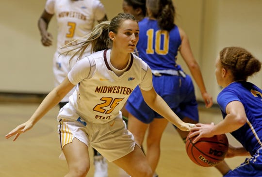 Midwestern State's Anni Scholl, a Henrietta graduate, will be honored Saturday in her final home game.