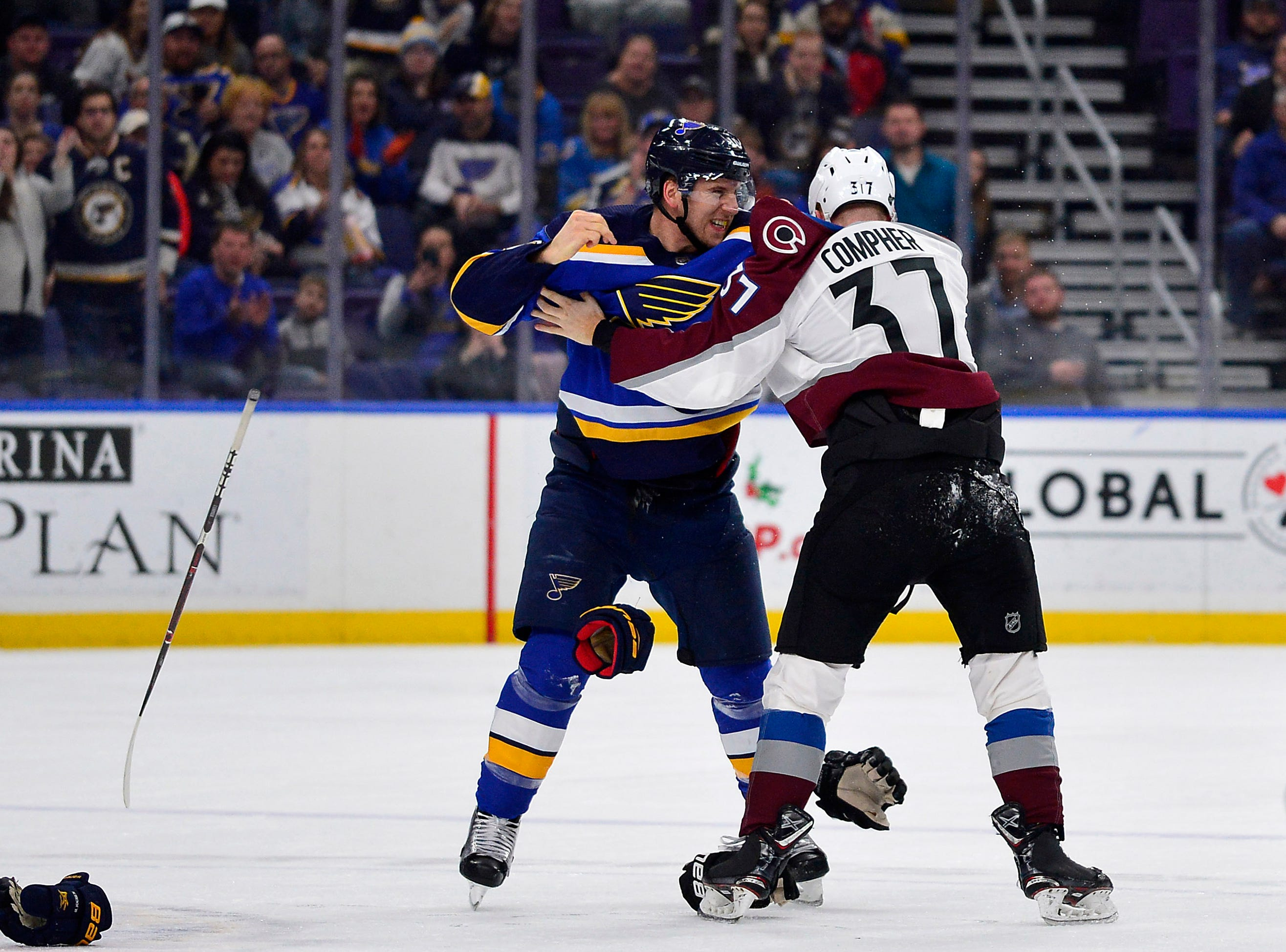 Dec. 14: St. Louis Blues' Brayden Schenn vs. Colorado Avalanche's J.T. Compher.