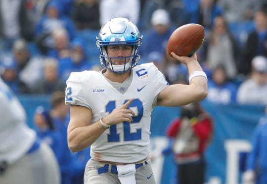 Middle Tennessee quarterback Brent Stockstill completes 70 percent of his passes.