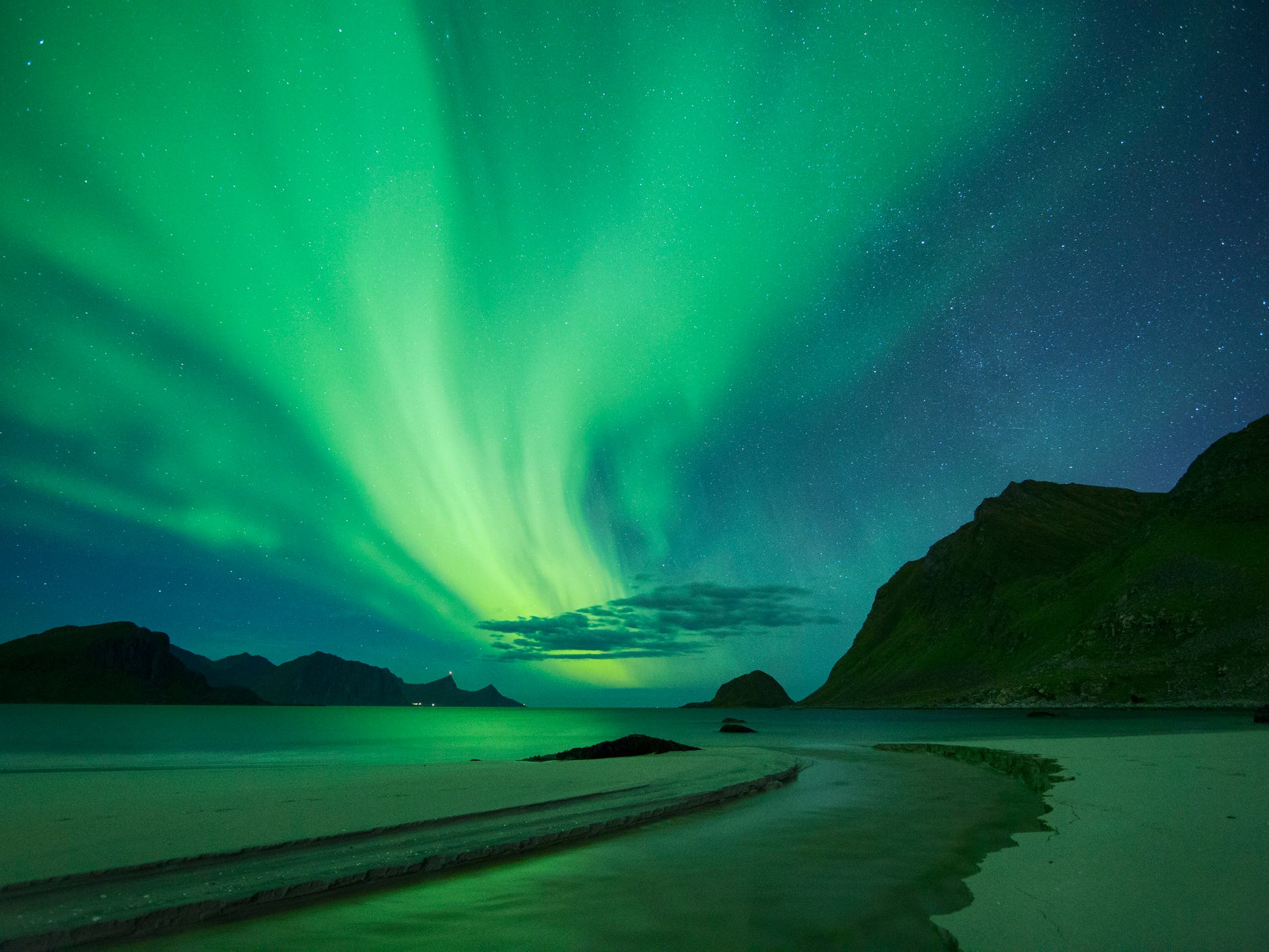 The northern lights in Norway.