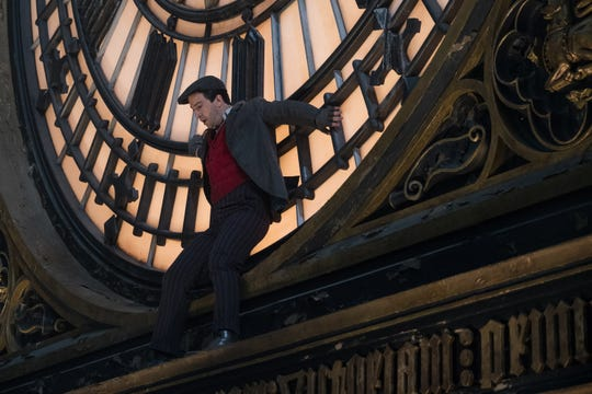 """Lin-Manuel Miranda was propelled onto the face of """"Big Ben"""" in """"Mary Poppins Returns."""""""