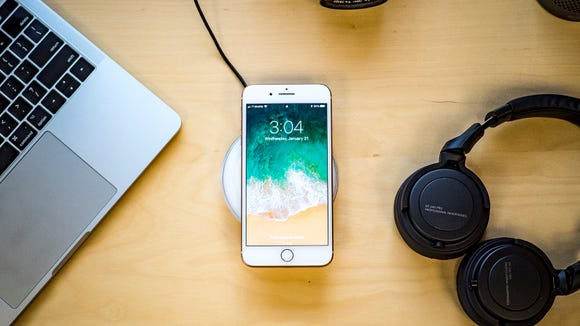 Charging your phone is so much easier with this charging pad.