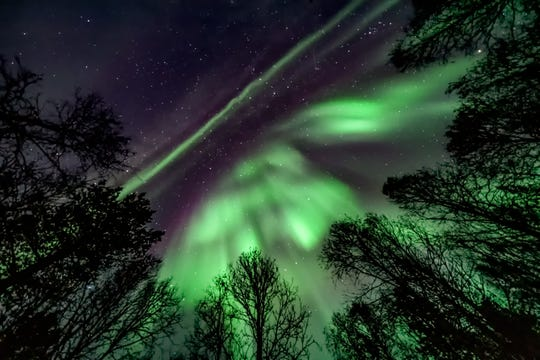 The northern lights as seen in skies over Norway.
