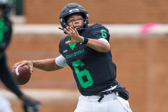 North Texas' Mason Fine is the NCAA FBSactive leader in career passing yards.