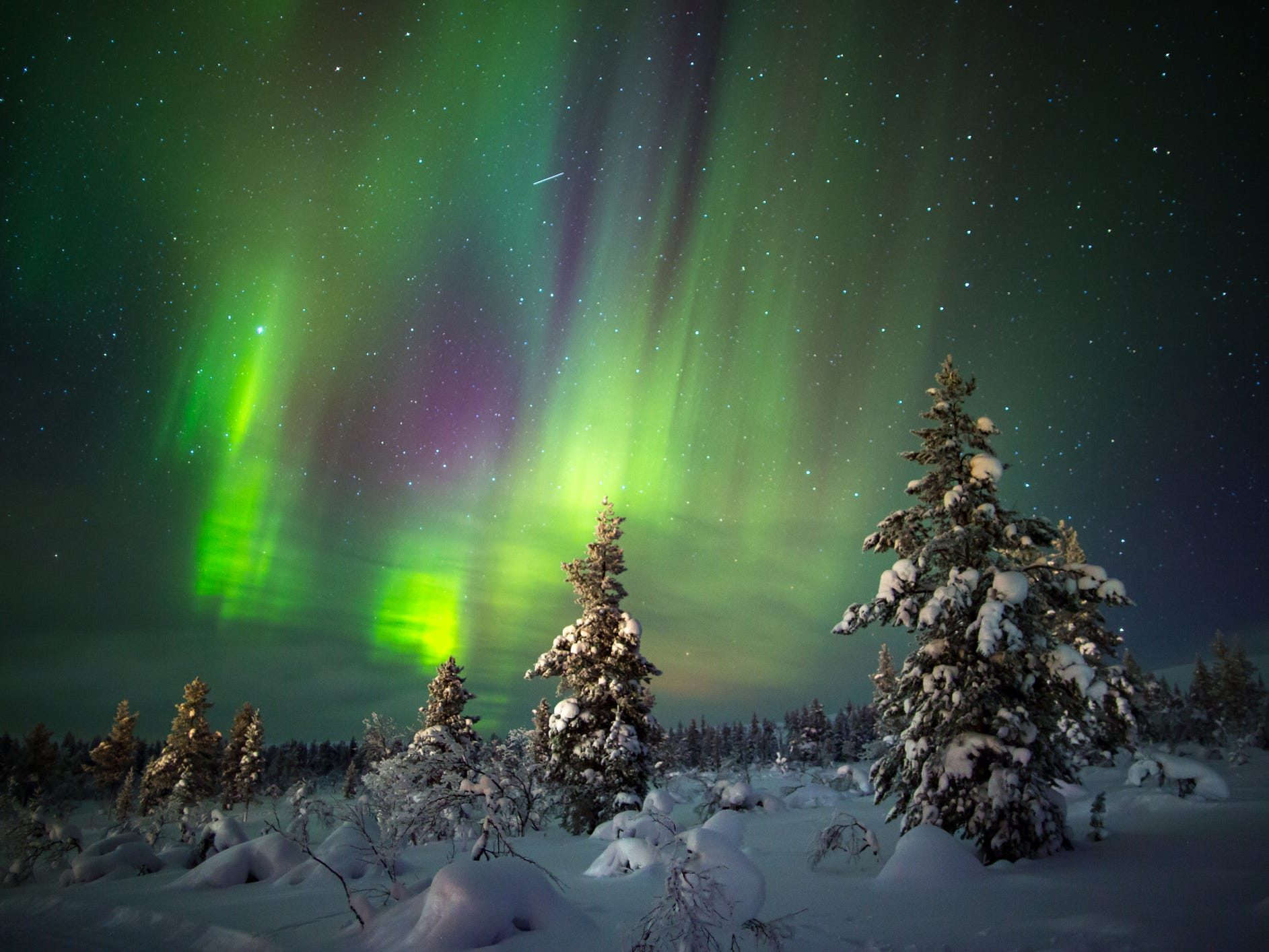 The northern lights in Finland.
