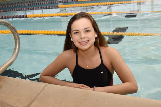Pineville's Lilliana Delgado won the girls 100 freestyle and 100 backstroke at the 2019 Alexandria Senior High Invitational Saturday. The Lady Rebels took second to ASH in the team standings.