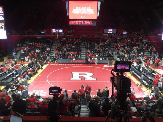 Rutgers wrestled Rider University on Sunday