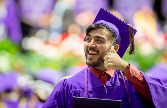 Wcu Commencement Thumbs Up