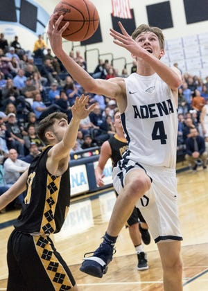 Adena defeated Paint Valley 67-57 Saturday night in Frankfort, Ohio, continuing Adena's current year undefeated SVC record.