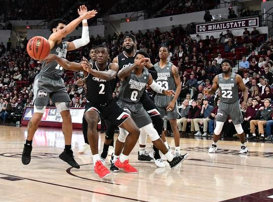 Dec 15, 2018; Starkville, MS, USA; Cincinnati Bearcats guard Keith Williams (2) passes the ball against the Mississippi State Bulldogs during the first half at Humphrey Coliseum. Mandatory Credit: Matt Bush-USA TODAY Sports