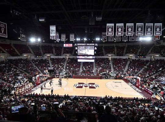 Dec 15, 2018; Starkville, MS, USA; A general overview of the action during the game between the Mississippi State Bulldogs and the Cincinnati Bearcats at Humphrey Coliseum. Mandatory Credit: Matt Bush-USA TODAY Sports