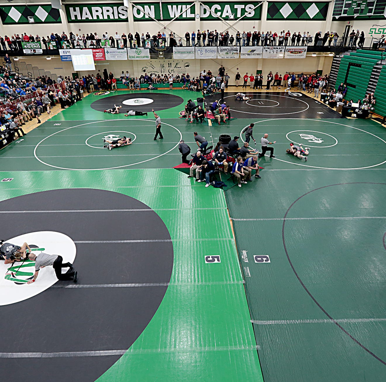 Area wrestlers meet for the annual Glenn Sample SWOWCACoaches Classic at the Harrison Activity Center in Harrison Saturday, Dec. 15, 2018.