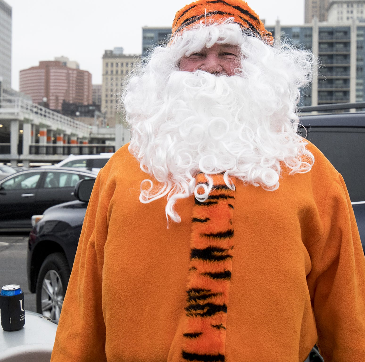 Bengals fan Larry Freed of Dayton tailgates ahead...