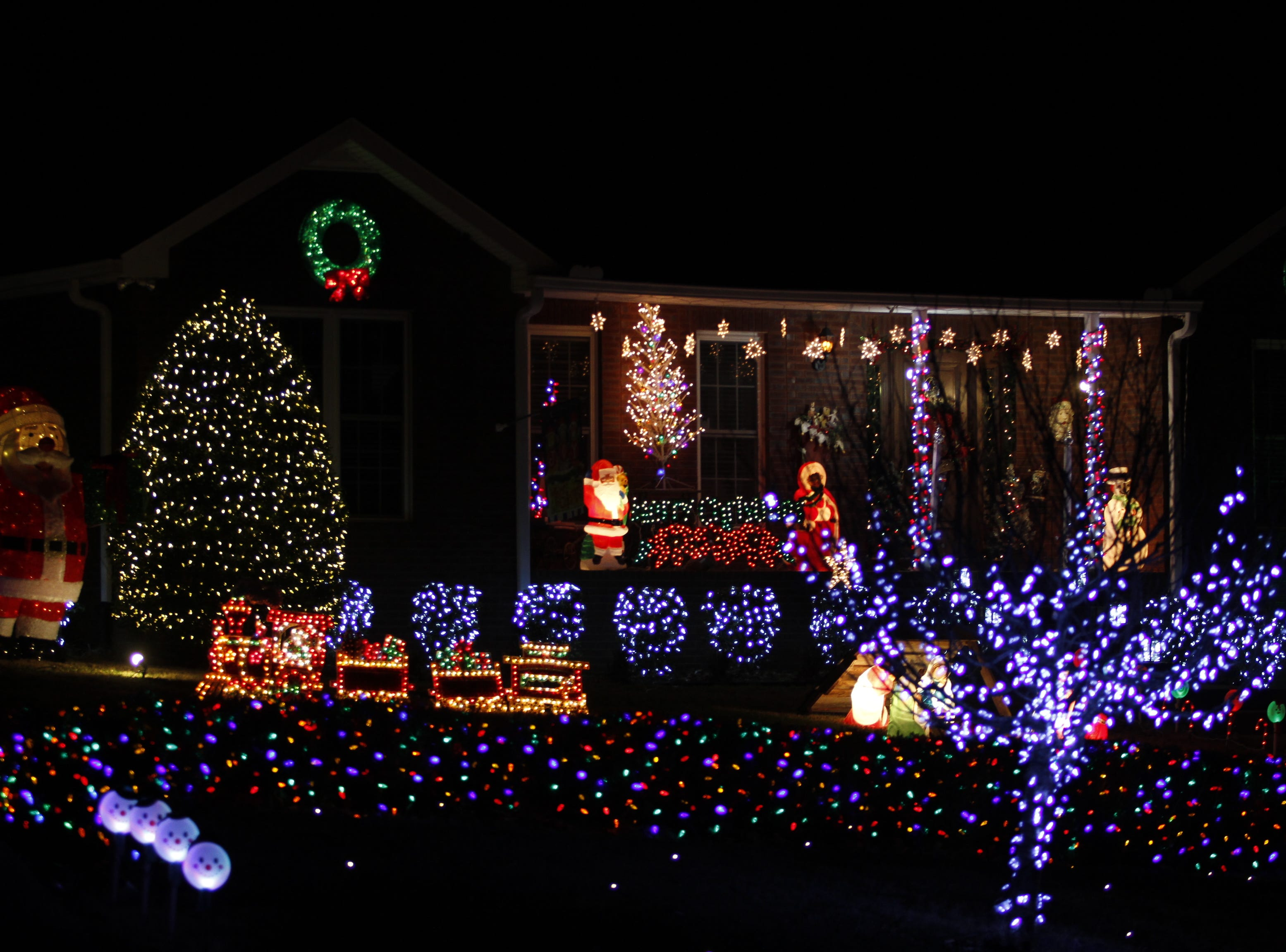 Ted and Linda Elsner were the county first place winners in the 2018 Christmas Lighting Contest.