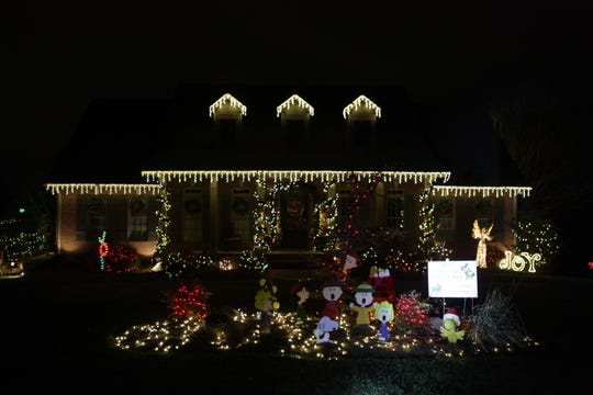 Chad and Melinda Byard were the grand champions in the 2018 Christmas Lighting Contest.