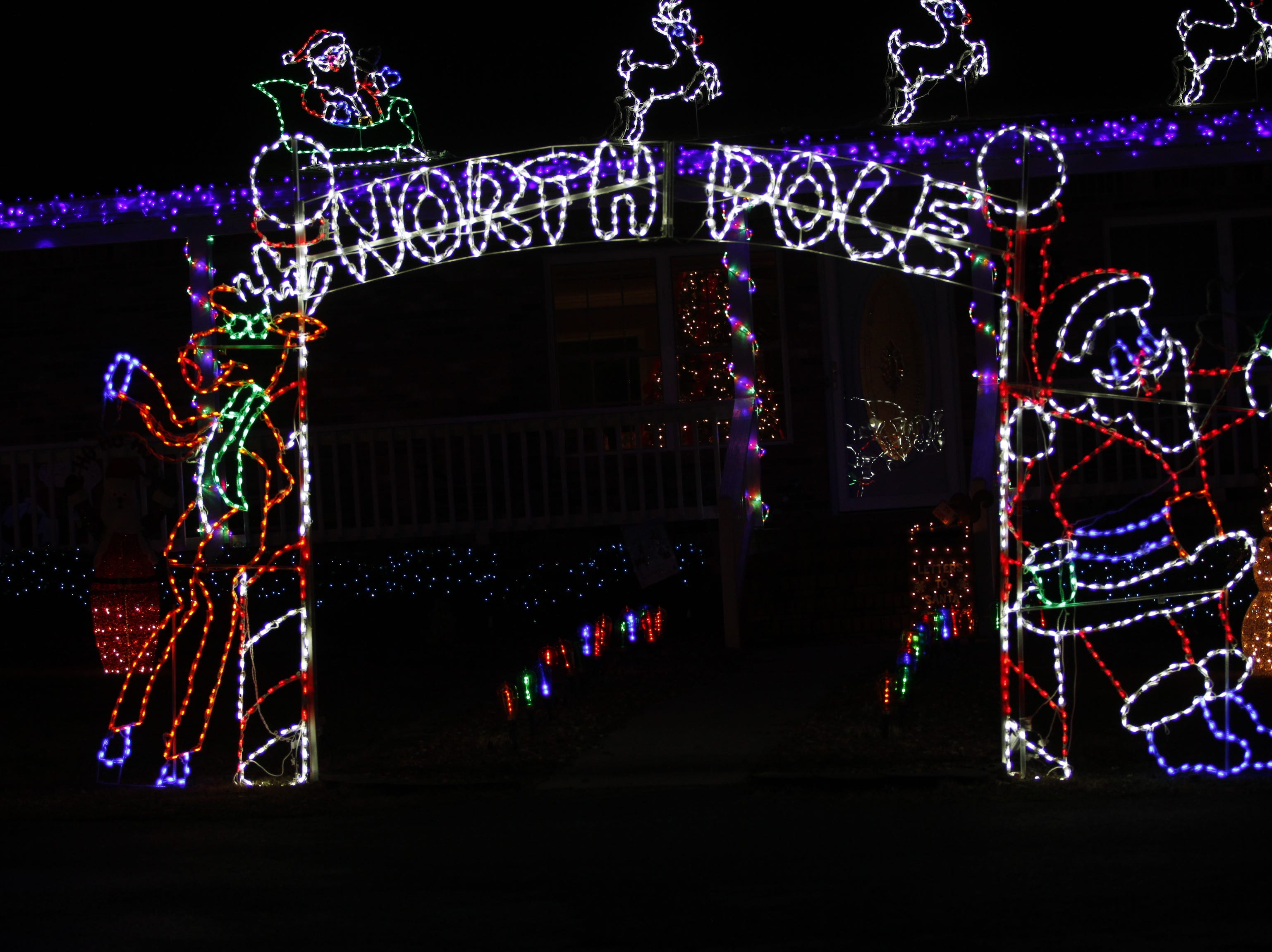 Mike and Kelly Baggett were the county third place winners in the 2018 Christmas Lighting Contest.