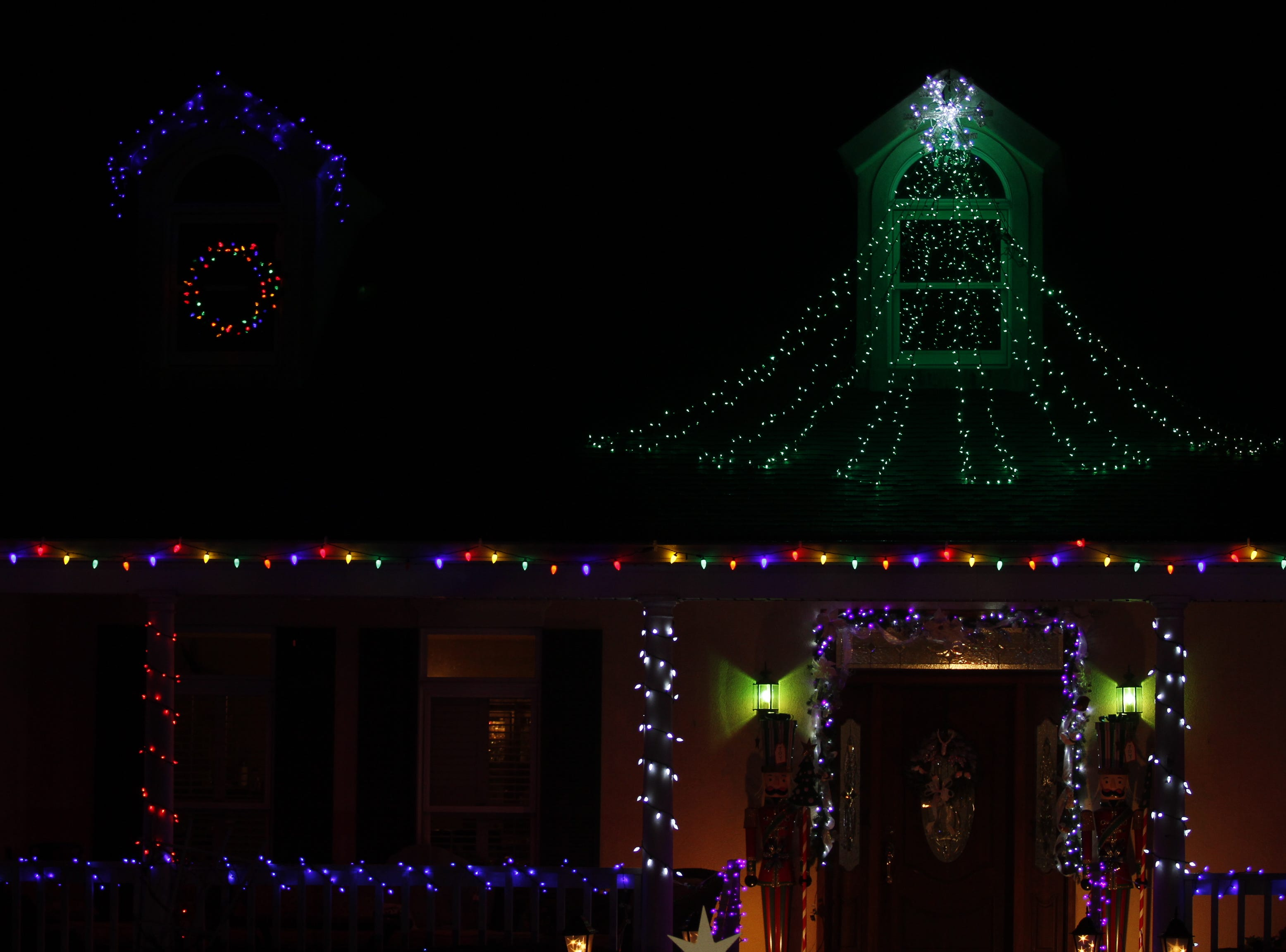 Charlie and Michelle King were the city first place winners in the 2018 Christmas Lighting Contest.