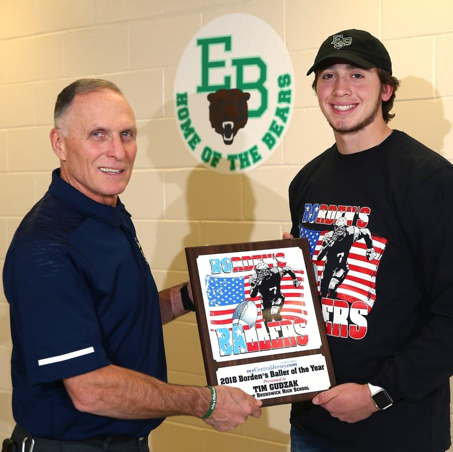 East Brunswick football star Tim Gudzak voted Borden's Baller of the Year