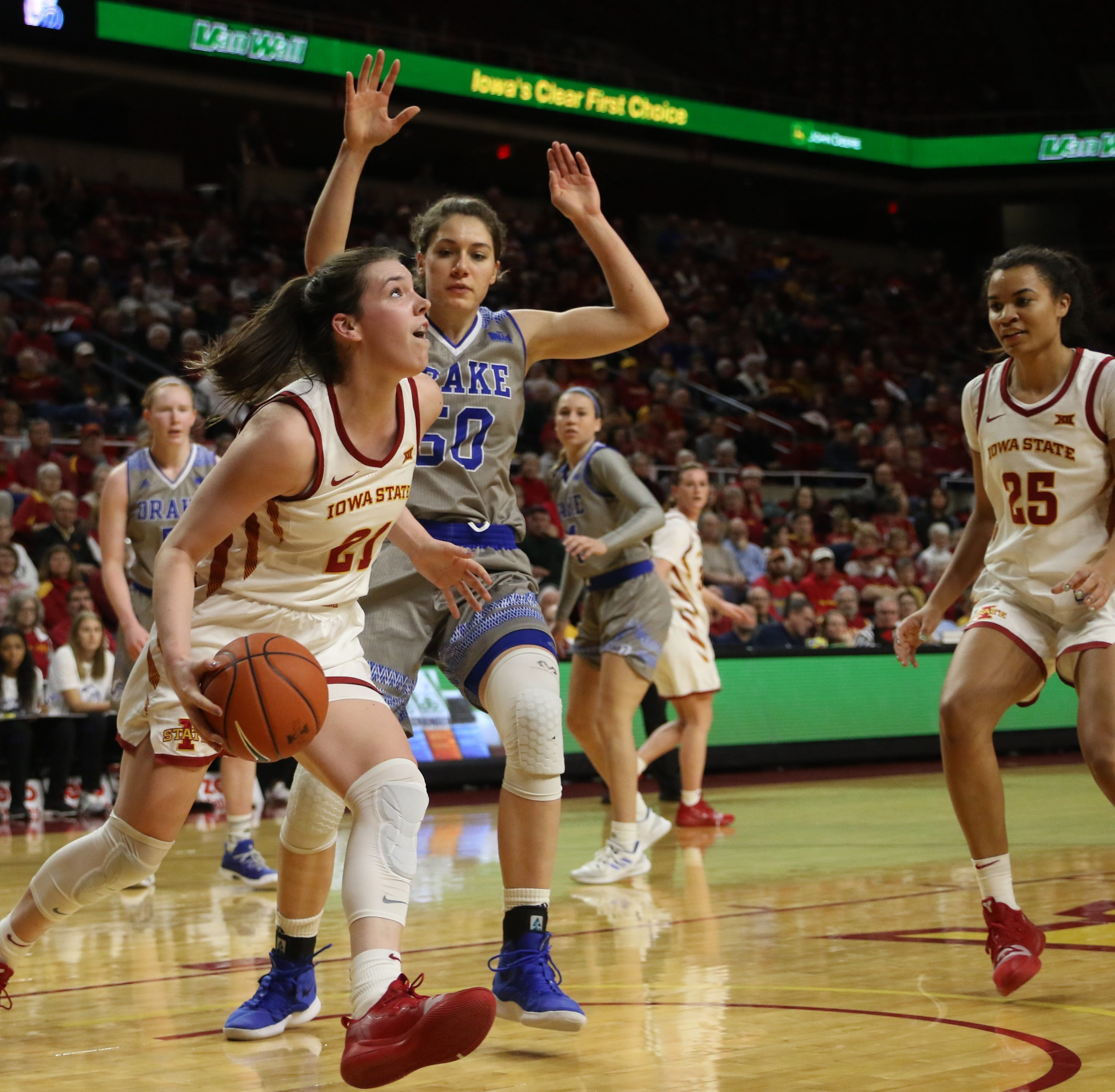 Iowa State women topple No. 25 Drake