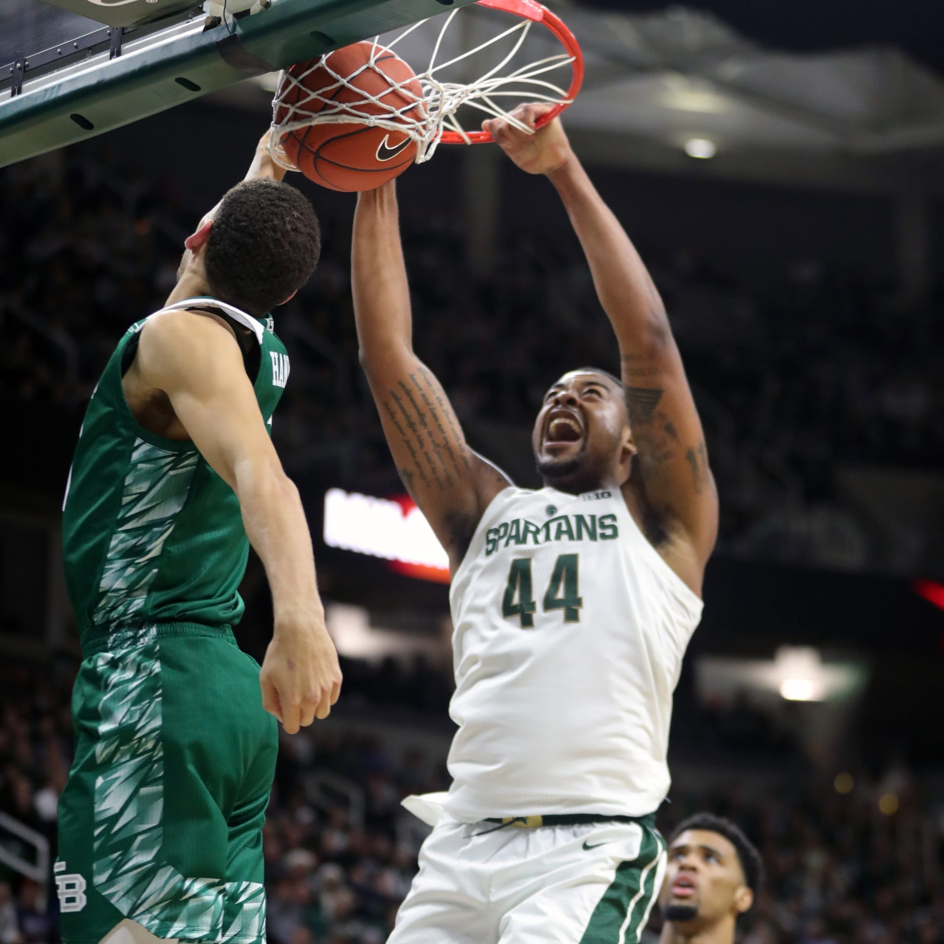 Michigan State basketball scorches Green Bay, 104-83, led by Nick Ward