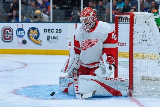 Nhl Detroit Red Wings At New York Islanders