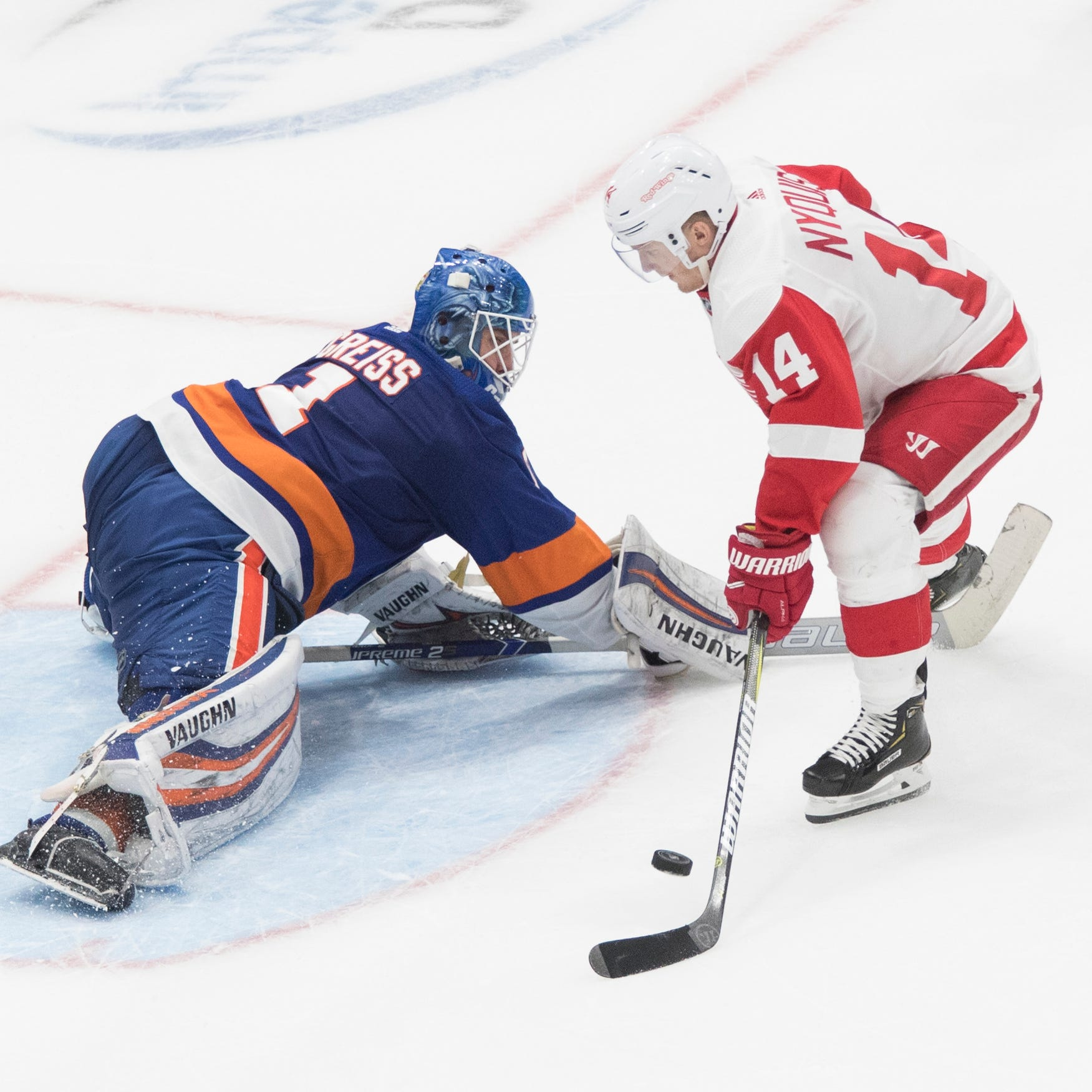 Red Wings escape with point in shootout loss to Islanders