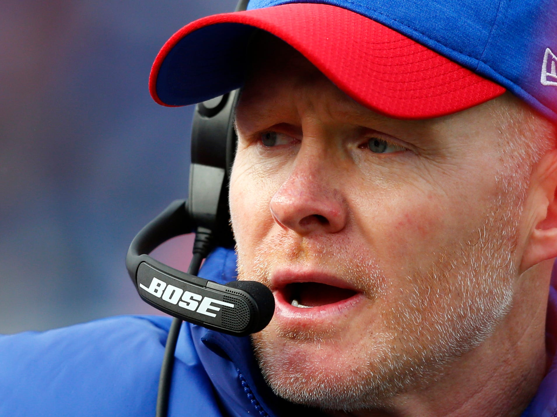 Buffalo Bills head coach Sean McDermott watches the second half.
