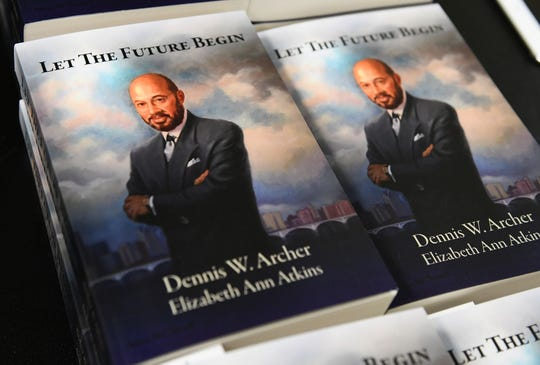 "Former Detroit Mayor Dennis Archer reflects on his career, time in public service and his book, ""Let the Future Begin,"" at the Detroit Public Library main branch in Detroit on Sunday, Dec. 16, 2018."