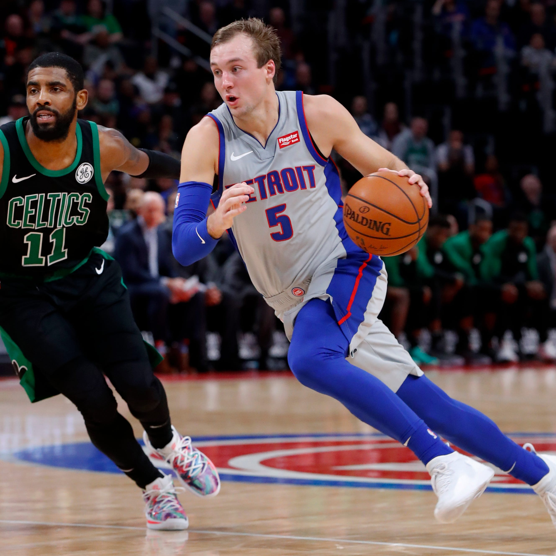 Bullock, Kennard help Pistons shoot down Celtics, end 6-game skid