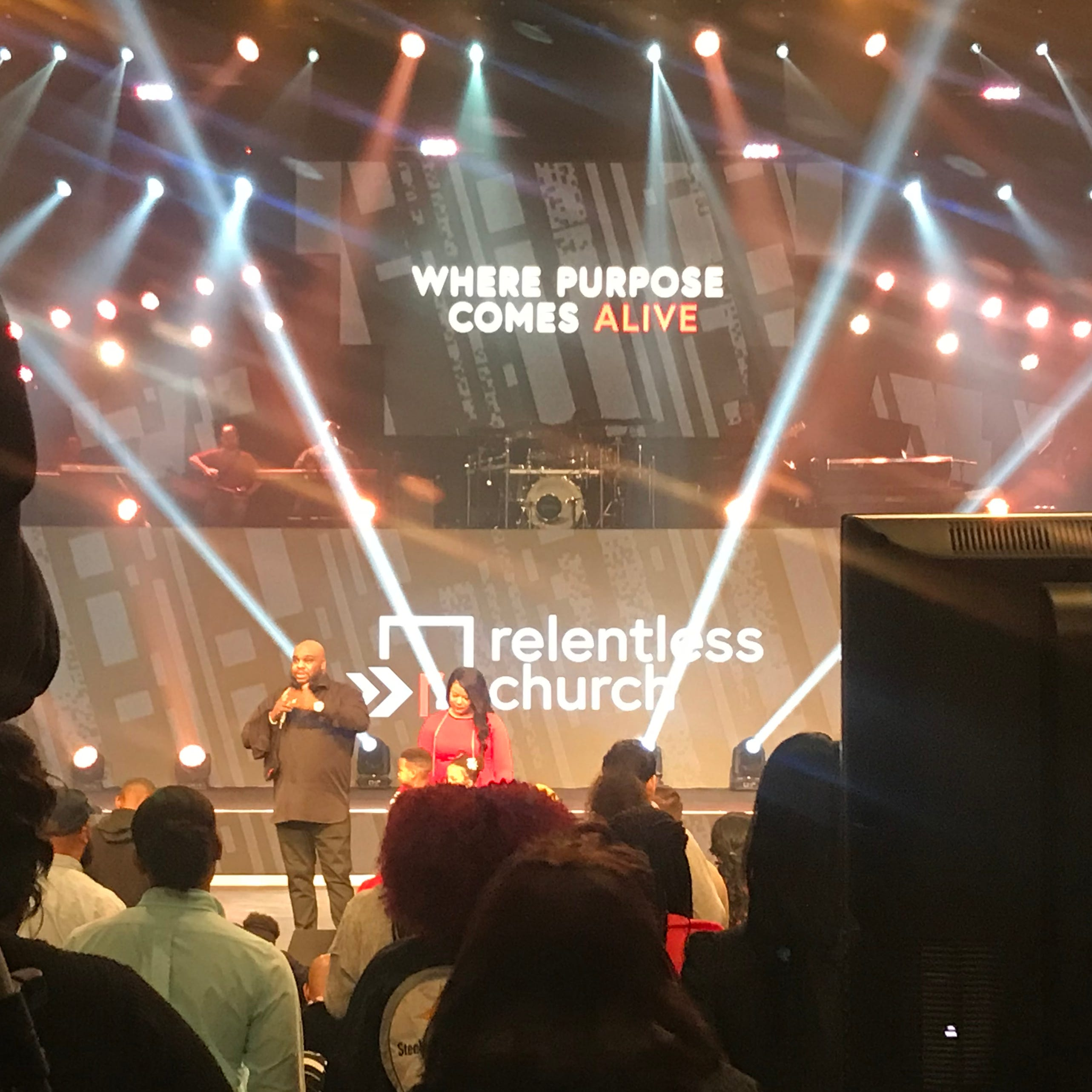 Pastor John Gray receives support from Relentless Church members after 'difficult' week