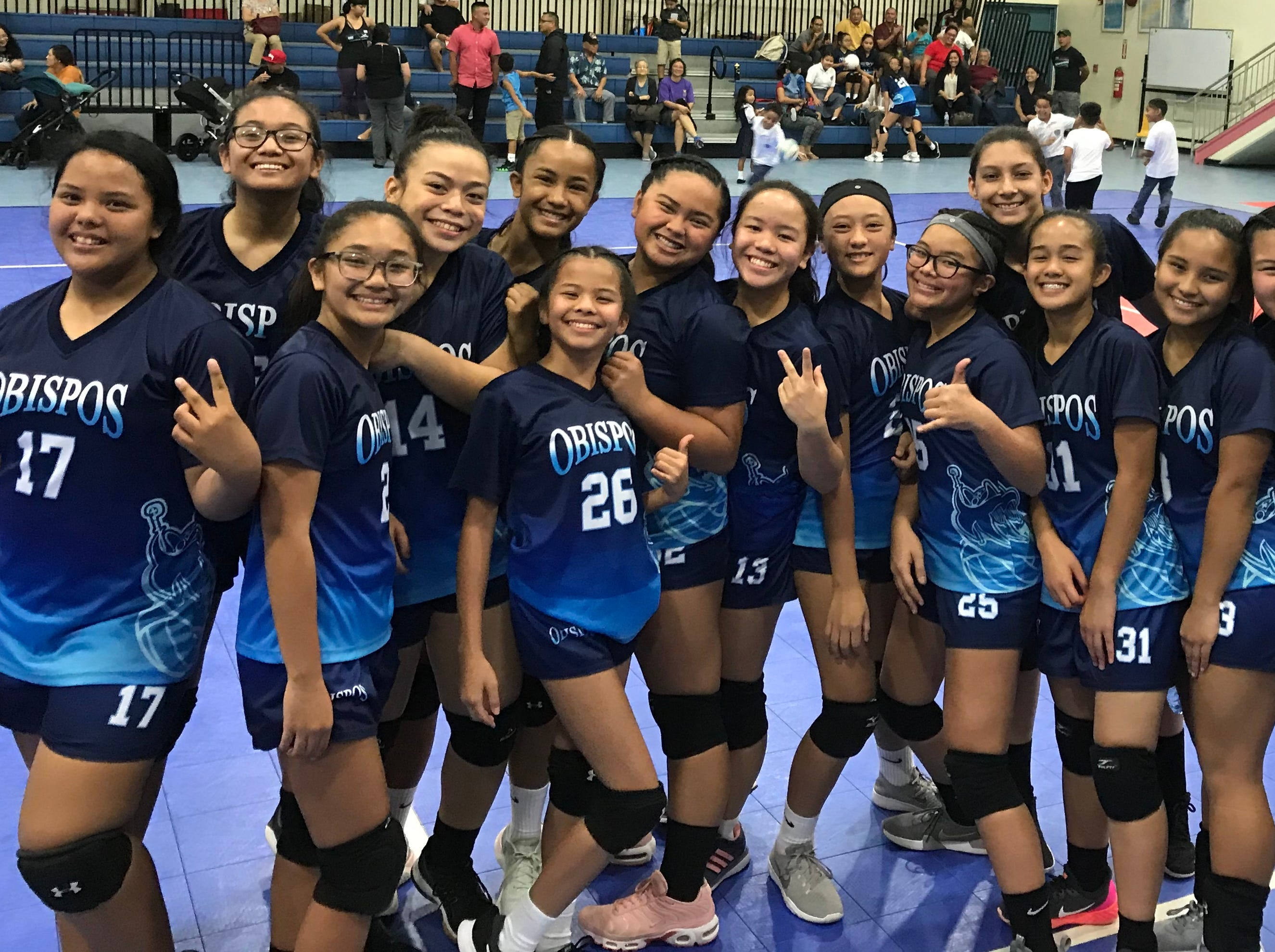 Consistent serving helps seal title for Obispos