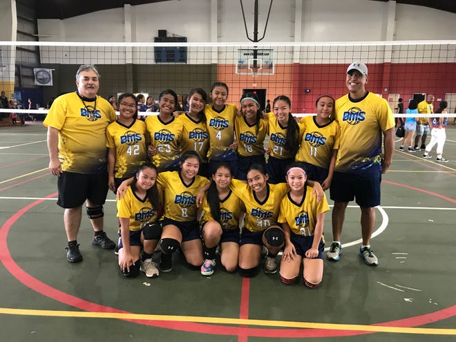 The Benavente Middle School Roadrunners middle school girls volleyball team won the GDOE title with a 23-25, 25-15, 16-14 victory on Saturday, Dec. 15, 2018, at the Astumbo gym.